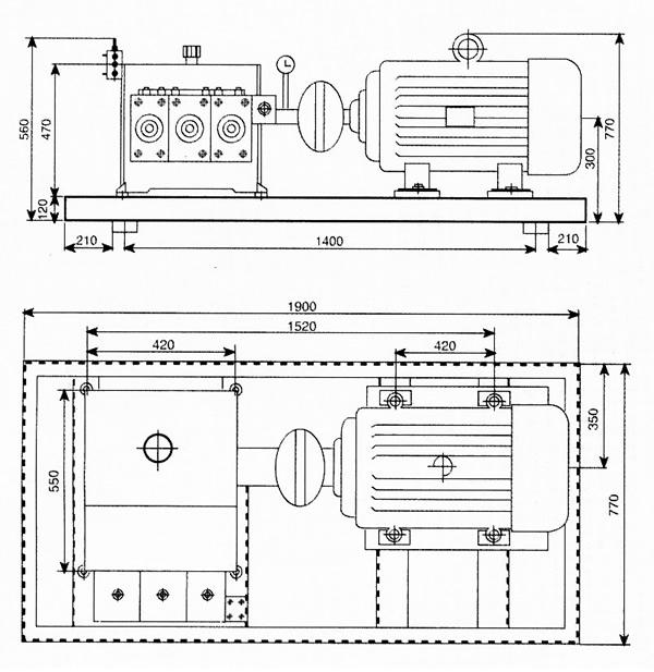 why70-70电机驱动高压清洗机